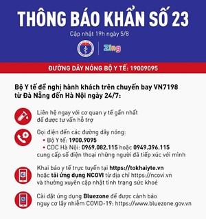 [NÓNG] Tìm hành khách chuyến bay VN7198 từ Đà Nẵng đến Hà Nội