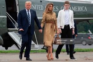 Gia đình Trump lần đầu xuất hiện cùng nhau từ khi dịch bùng phát ở Mỹ