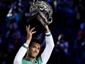 Novak Djokovic lập kỷ lục 9 lần vô địch Australian Open