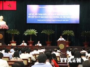 Lãnh đạo TP HCM đối thoại với chủ tịch 312 phường, xã, thị trấn