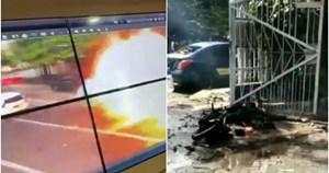 [VIDEO] Khoảnh khắc bom phát nổ gần nhà thờ ở Indonesia