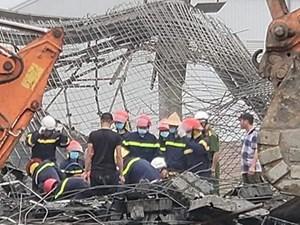 Hai công nhân tử vong vụ sập giàn giáo công trình xây dựng