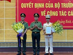 Công an tỉnh Quảng Bình có tân Giám đốc