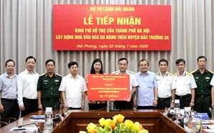 Hà Nội trao 38 tỷ đồng cho Bộ Tư lệnh Hải quân