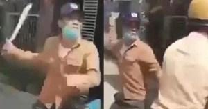 Bắt thanh niên 'hổ báo' rút dao uy hiếp cảnh sát để giải cứu đồng bọn
