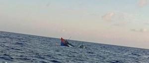Bình Định: Một tàu cá bị chìm trong bão số 2