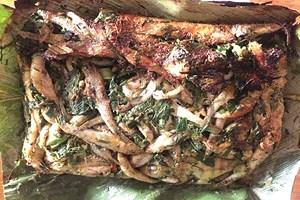 Cá bống suối nướng