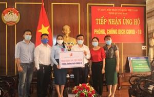 Mặt trận tỉnh Quảng Nam tiếp nhận ủng hộ phòng, chống dịch