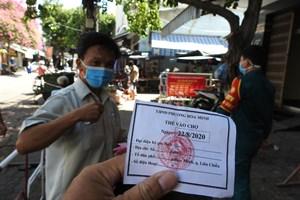 Đà Nẵng: Gia hạn thẻ đi chợ tần suất 3 ngày/lần cho các hộ dân