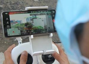 Đà Nẵng:Kiểm soát phòng, chống dịch tại các ngõ hẻm bằng flycam