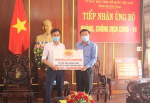 Mặt trận tỉnh Quảng Nam tiếp nhận 8.000 ly cháo ủng hộ phòng, chống dịch Covid-19