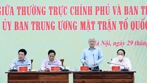 BẢN TIN MẶT TRẬN: Khai mạc Hội nghị giữa Thường trực Chính phủ và Ban Thường trực UBTƯ MTTQ Việt Nam