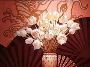 [ẢNH] Quốc hoa các nước ASEAN rực rỡ trong triển lãm tranh tại Hà Nội