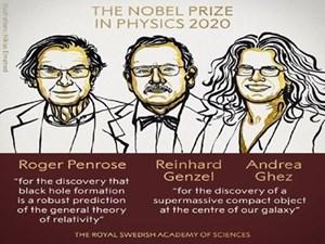 Giải Nobel Vật lý 2020 vinh danh 3 nhà khoa học Anh, Đức và Mỹ