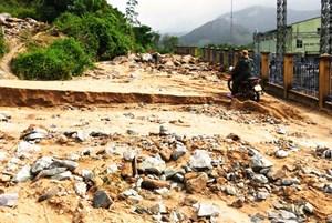 Bình Định: Sạt lở do bão, Thủy điện Vĩnh Sơn 5 tạm dừng hoạt động