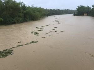Nước các dòng sông miền Trung, Tây Nguyên đang lên