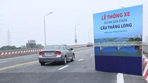 Thông xe dự án sửa chữa cầu Thăng Long sau 5 tháng thi công