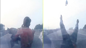 Liều lĩnh băng qua đường cao tốc, người phụ nữ bị đâm suýt chết