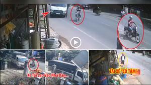 Xe tải phải đâm vào nhà dân để cứu mạng người đi xe ẩu