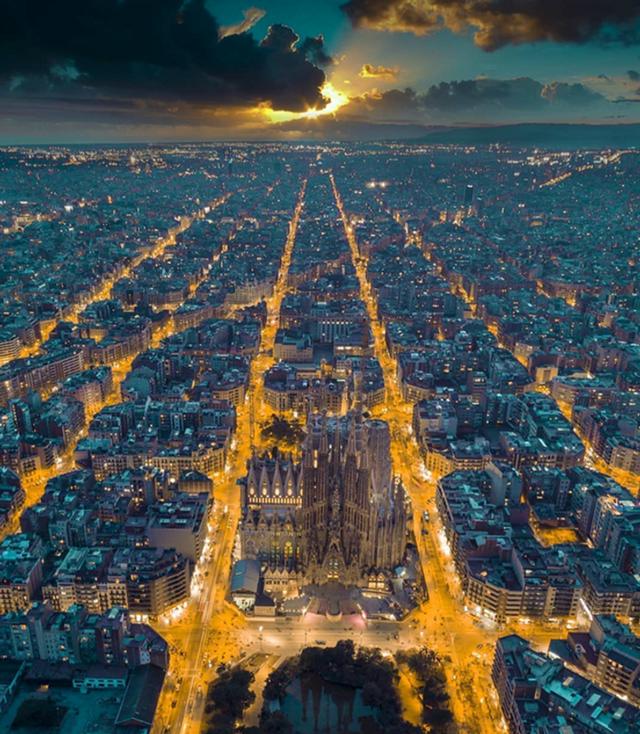 Đèn đêm của Barcelona.