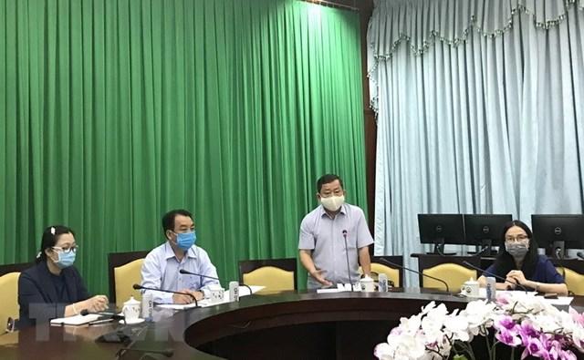 Giám đốc Sở Y tế tỉnh Vĩnh Long Văn Công Minh. (Ảnh: Lê Thúy Hằng/TTXVN).