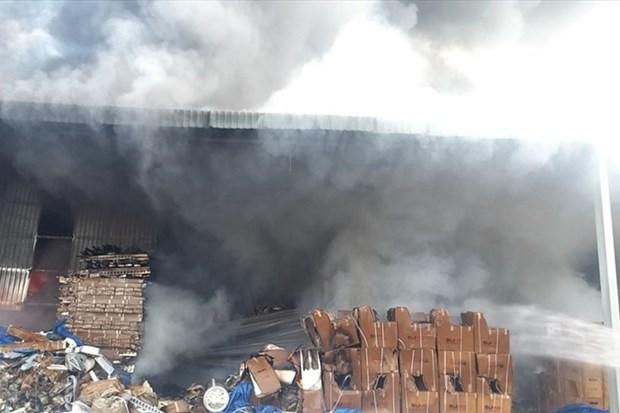 Hiện trường vụ hỏa hoạn. (Nguồn: laodong.vn).
