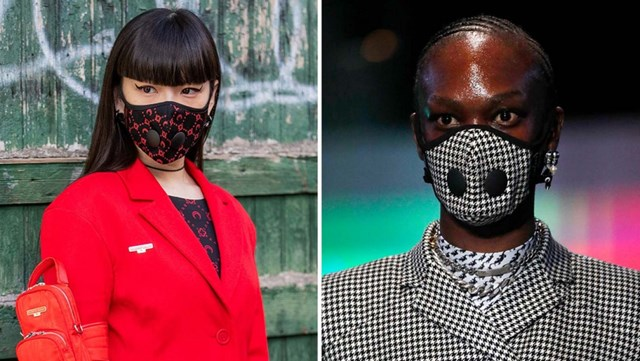 Khẩu trang trở thành biểu tượng thời trang mới trong năm 2020 - Ảnh 1
