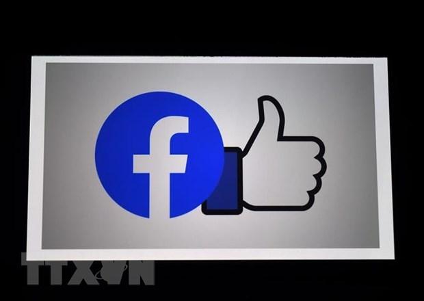Biểu tượng Facebook và nút Like. (Ảnh: AFP/TTXVN).