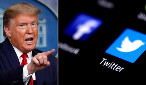 Tài khoản Twitter, Facebook của Tổng thống Trump bị khóa vô thời hạn - Ảnh 1