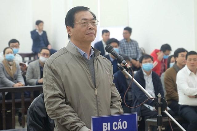 Bị cáo Vũ Huy Hoàng trước tòa.