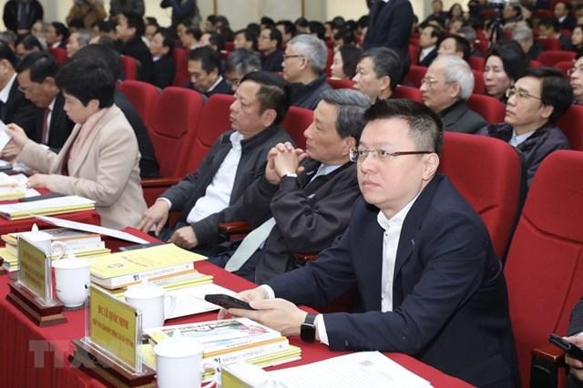 Phó Tổng giám đốc TTXVN Lê Quốc Minh tham dự hội nghị. (Ảnh: Minh Quyết/TTXVN).