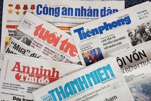 Bộ Thông tin và Truyền thông thu hồi và cấp phép mới cho một số cơ quan báo chí. Ảnh minh họa.