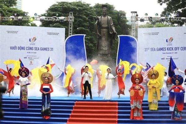 Chương trình khởi động cùng SEA Games 31 và ASEAN Para Games 11. Nguồn:Sở VHTT Hà Nội.