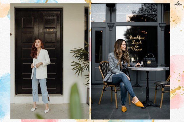 Một chiếc áo blazer tone trắng mix cùng áo phông hay một chiếc áo blazer kẻ caro mix cùng quần jeans sẽ giúp cho chị em vừa trẻ trung, năng động lại vừa đúng chuẩn style công sở. Nguồn: Kênh 14, Ngoisao.net.