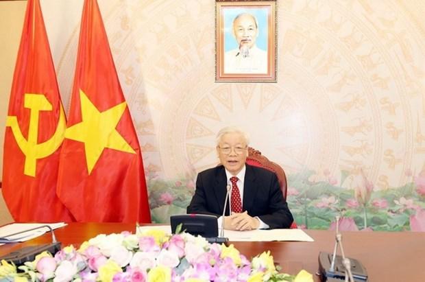 Tổng Bí thư Nguyễn Phú Trọng điện đàm với Tổng Bí thư Lào Sisoulith - Ảnh 1