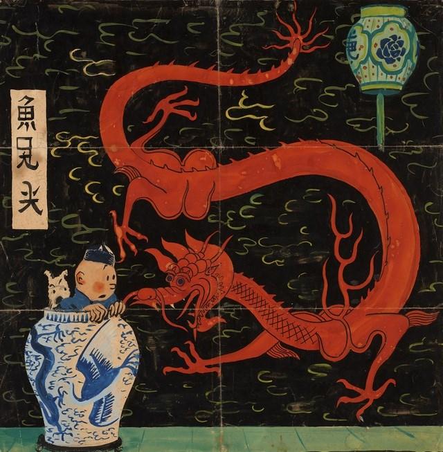"""""""Le Lotus Bleu"""" được sáng tác hồi năm 1936 bởi tác giả Georges Remi, ông đã sử dụng nhiều màu sắc tinh tế để thực hiện bức hình minh họa cho bìa tác phẩm."""