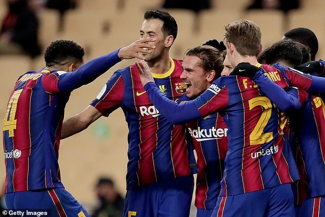 Messi nhận thẻ đỏ, Barcelona tan mộng giành Siêu Cup Tây Ban Nha - Ảnh 2