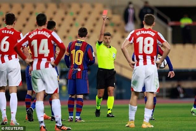Messi nhận thẻ đỏ, Barcelona tan mộng giành Siêu Cup Tây Ban Nha - Ảnh 4