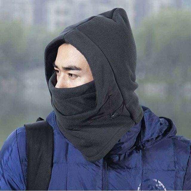 Mũ nỉ trùm đầu giúp giữ ấm cả đầu, tai, mũi, miệng và cổ cực hữu dụng trong mùa đông.