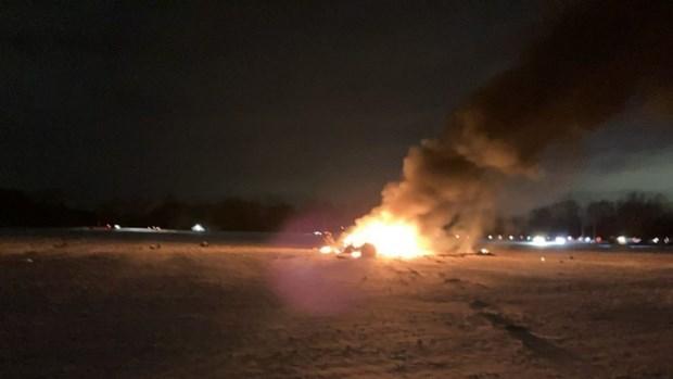 Hiện trường máy bay rơi. (Nguồn: abcnews.go.com).