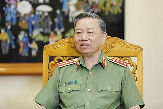 Đại tướng, Bộ trưởng Bộ Công an Tô Lâm. Ảnh: TTXVN.