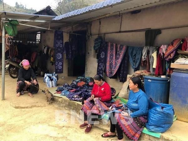 Bản Pà Cò 1, là một trong những bản còn duy trì và phát triển làng nghề dệt thổ cẩm truyền thống của người Mông. (Ảnh: Thúy Hiền/Bnews/TTXVN/Vietnam+).