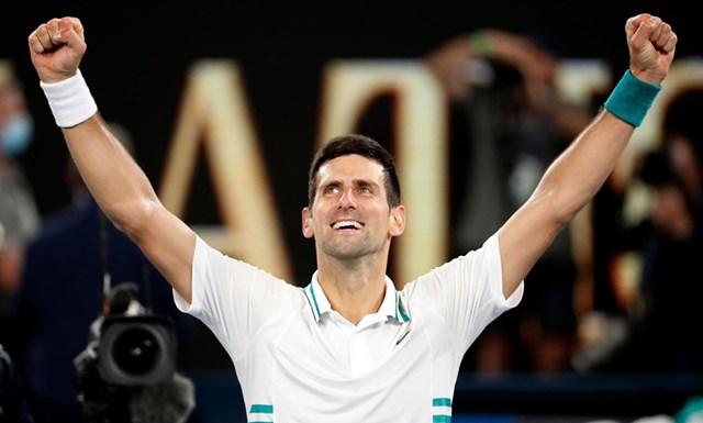 Nole chỉ còn kém Nadal và Federer 2 danh hiệu Grand Slam. (Nguồn: Reuters).