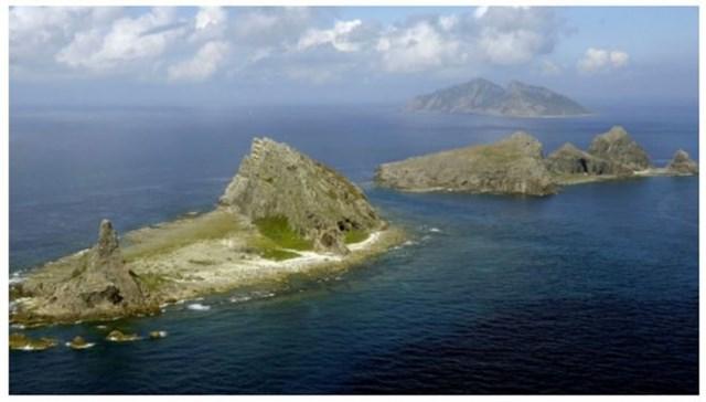Quần đảo Senkaku/Điếu Ngư ở biển Hoa Đông. Ảnh: Kyodo News.