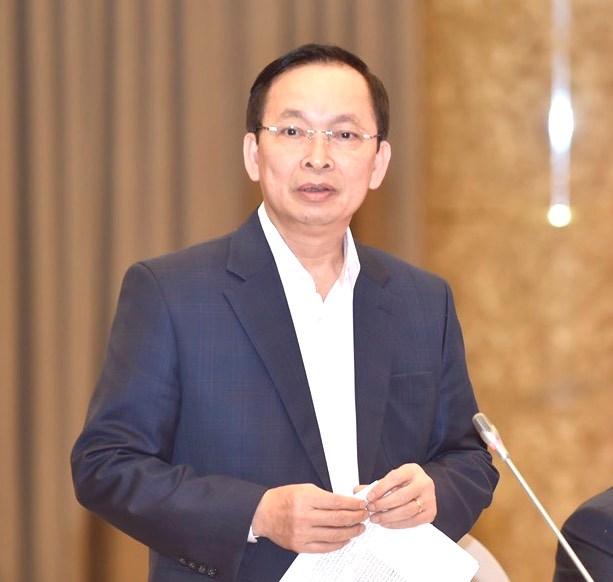 Phó Thống đốc NHNN Đào Minh Tú trao đổi thông tin tại Họp báo. Ảnh:VGP/Đoàn Bắc.