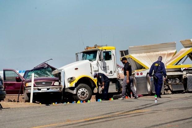 Hiện trường vụ tai nạn. (Nguồn: latimes).