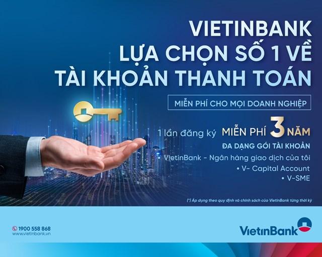 'Một lần đăng ký, miễn phí ba năm' cùng Gói dịch vụ tài khoản dành cho doanh nghiệp của VietinBank - Ảnh 1