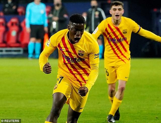 Moriba ấn định chiến thắng 2-0 cho Barcelona ở phút 83.