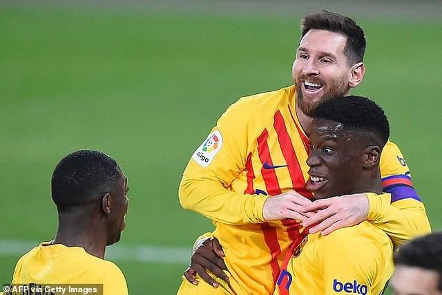 Barcelona chỉ còn kém đội đầu bảng Atletico đúng 2 điểm.