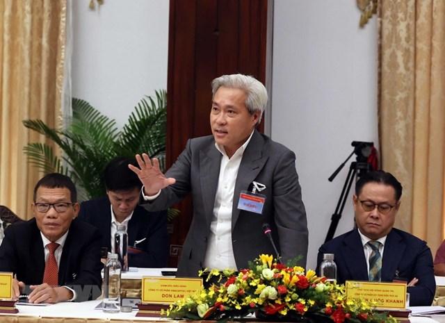 Ông Don Lam, Giám đốc điều hành Công ty cổ phần Vinacapital Việt Nam phát biểu. (Ảnh: Thống Nhất/TTXVN).